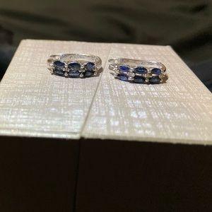 Sapphire/diamond earrings